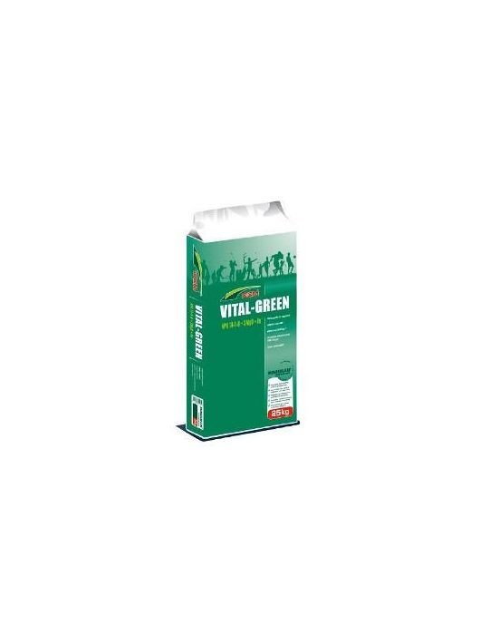 DCM VITAL GREEN tavaszi indító gyeptáp sportgyepekre(25kg)